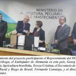 Ministerio de Agricultura de Brasil, Banco de Desarrollo alemán y el IICA
